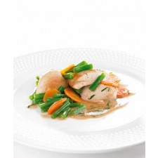 Chicken with arragon high-protein dish