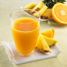 Refreshing Pineapple and Orange Booster drink